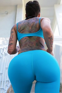 Tattoo big booty girls with Naked
